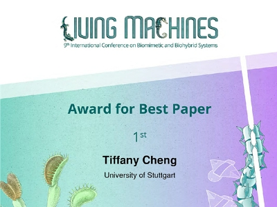 Living Machines Conference Award for Best Paper